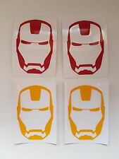 iron-man decals x 4 for car/wall/laptop/skateboard