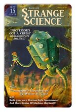 Vintage Styled Metal Sign Strange Science Pulp Art Robot Mad Scientist