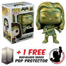 FUNKO POP VINYL DC BATMAN VS SUPERMAN WONDER WOMAN PATINA + FREE POP PROTECTOR