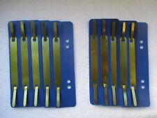 10 Heftstreifen blau - mit Metallstreifen - Topp Zustand