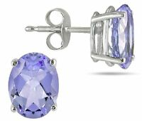 TANZANITE EARRINGS SILVER.1.50 CWT NATURAL WHITE GOLD LOOK  CHRISTMAS BIRTHDAY