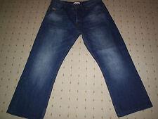 Firetrap envejecido Jeans de pierna recta 34 pulgadas de cintura