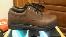 NEW DieHard Franklin Brown Leather Work Shoes 82442 Size 9 Med *3-Day Delivery*