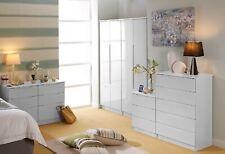 Ready Assembled Gallardo High Gloss White Wardrobe Drawers Bedroom Furniture Set