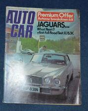 November Autocar Cars, 1970s Magazines