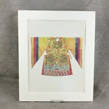 Antique Costume Print Lamaesque Tibet Tibetan Monk Dancing Cloak Garment