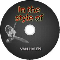 VAN HALEN IN THE STYLE OF GUITAR BACKING TRACKS CD BEST GREATEST HITS MUSIC ROCK