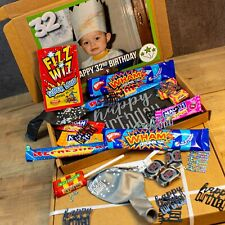Personalised Birthday Hamper Present, Retro Sweets, Gift Box for Him, Her, Kids