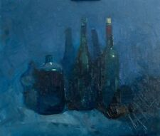 """Still life with bottles"" Original oil painting by E. Lozovoy Realism on canvas"