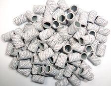 100pcs Nail Drill Zebra Sanding Bands Replacement Bits 180 grit Medium Coarse