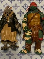 2015 tmnt Turtles  figures out of the shadow lot of 2 Splinter  & Raphael