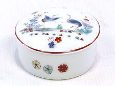 Chantilly décor KAKIEMON à couvercle boîte à bijoux - cigogne design