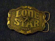 1975 Vintage LONE STAR Beer Belt Buckle/Bottle Opener-Aged Brass Plate-NOS-USA