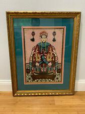Foto de bordado de inspiración vintage de Asia China Emperatriz Mujer en trono silla