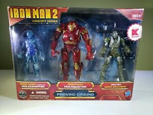 "IRONMAN 2 Concept series, ""Proving Ground"" 3 pack action figures set"