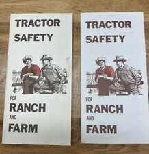 2 Vintage Tractor Safety Guide Brochure For Ranch And Farm From State Compen