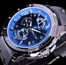 Excellanc Uhr Herrenuhr Armbanduhr blau grau NIETEN 4-g