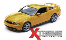 GREENLIGHT 12870 1:18 2010 FORD MUSTANG GT SUNSET GOLD METALLIC DIECAST MODEL