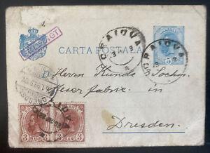 1899 Caiova Romania Postal Stationery Postcard cover To Dresden Germany