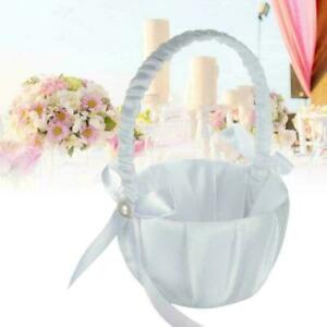 Flower Romantic Bowknots Wedding Ceremony Party Rose Girl Baskets Flower P 7Y6T