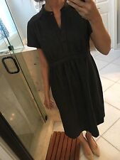 A Pea in the Pod Maternity Dress, size L Sweater Like Plaid Gray Fall