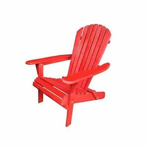 W Home Oceanic Adirondack Chair Standard Red