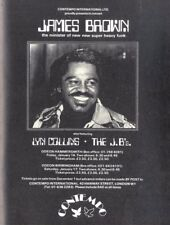 """BS174P31 1975 JAMES BROWN CONCERT ADVERT 11X8"""" WITH LYN COLLINS & THE J. B'S"""