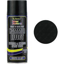 4 x Black Hammer Effect Spray Paint Can Interior Exterior Metal Rust 400ml