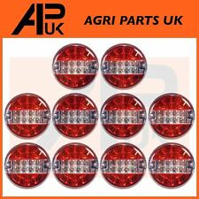 10 LED Round Rear Brake Tail Lights Lamp Tractor Trailer JPM Marshall Joskin 12V