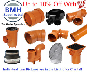 Underground Drainage 110mm Pipe & Fittings, Coupler, Bends, Junctions, Traps Etc