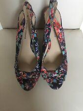 Dorothy perkins floral wedge sling back shoes size 7 euro41