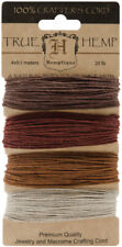 Hemptique 20 LB Medium Strength Hemp Cord Set of 4 Bronze Multi Colour
