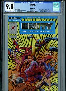 Unity #1 Platnium CGC 9.8 NM/MT Comic Valiant Comics 1992 K25