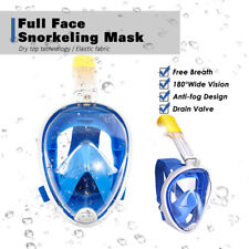 Diving Swimming Anti Fog Snorkel Snorkeling Mask Swim Dive Scuba Full Face AU