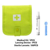 1/2/3 Lancing Device + 28g Sterile Lancets For Blood Test-Kits 100/200/300 PCS