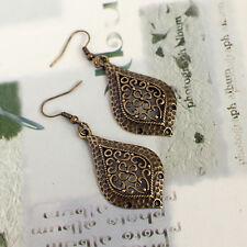 Antique Bronze Vintage Engraved Dangle  Earrings