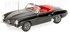 MINICHAMPS 1955 MERCEDES 190SL (W121) CABRIOLET BLACK COLOR 1:18*Last One!