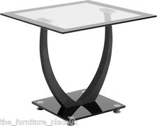 Henley Clear Glass Chrome Lamp Coffee TV Nest Of Tables or Dining Set 6 Chairs