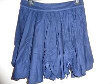 Warehouse navy blue cotton skirt. Size 12