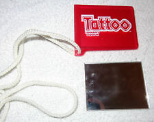 Vintage Tattoo Liqueur - Mirror on a String that goes Around Your Neck - Red