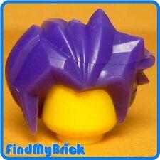 G090A Lego Hair Minifigure Headgear Angular Swept Back - Dark Purple 7709 NEW