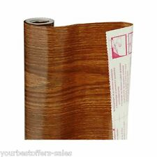 Oak Wood Self Adhesive Vinyl Contact Paper Shelf Liner Surface Cover Brand New