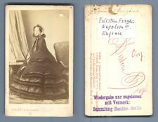 Disdéri, Impératrice Eugènie CDV, Vintage albumen   Tirage albuminé  6,5x10,