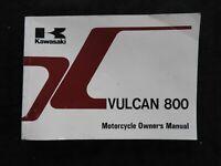 1995 KAWASAKI VULCAN 800 MOTORCYCLE OWNERS OPERATORS MANUAL NICE SHAPE