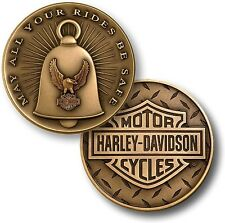 """Harley Davidson / Gremlin Bell """"May All Your Rides Be Safe"""" Challenge Coin"""