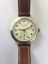 Mappin & Webb Limited Edition 40mm Solid Silver Campaign Military Watch