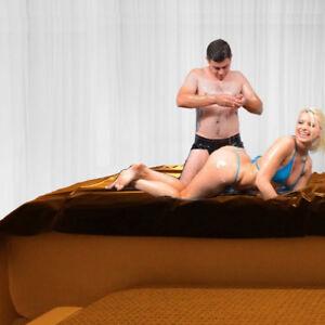 Cozy Feel PVC Bed Sheet for Wet Games, Full Size Waterproof Bedding Sheet Set