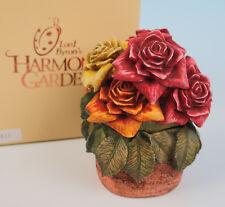 Harmony Kingdom Rose Party Box Figurine Mib Le Lord Byron's Garden Bouquet Pink