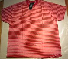 Basic Edition Stripe T-Shirt Large Red Color 50/50 Cotton/Polyester