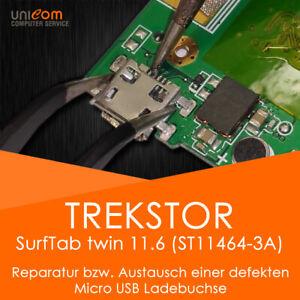⚡ REPARATUR Austausch Micro USB Ladebuchse TrekStor SurfTab twin 11.6 ST11464-3a